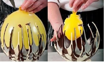 canasta de chocolate