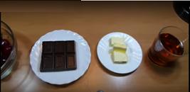 ingredientes cerezas con chocolate al licor