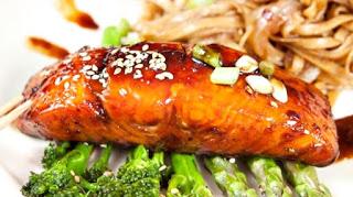 salmón al teriyaki