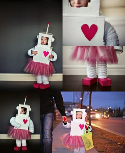 Disfraz-de-robot-niña